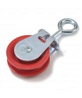 Verzinkte Rollen / Öse / rote polyamide Scheibe