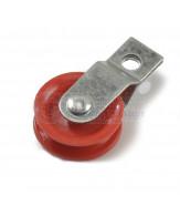 Verzinkte Rollen / split bracket / rote polyamide Scheibe